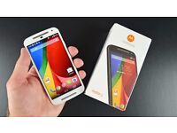 In a Box Unlocked Dual-Sim White Moto G Android Smartphone