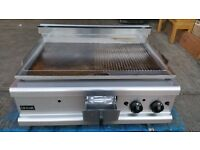 Lincat OG7208/N Opus 700 Carbon Steel Half Ribbed Griddle. Available London NW10