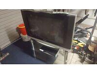 Samsung 32 inch wide screen TV plus stand plus sky+ box