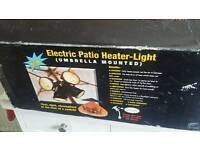 Electric patio heater light