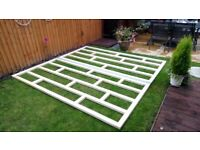 NEW Quality WOODEN BASE for SummerHouse - Shed - Garden Office - Wendy House - Jacuzzi - Man Cave