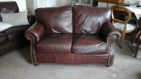 Leather 2 seater sofa