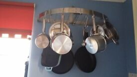 D frame wall fitting for pots and pans. Good condition