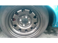 Weller Mattig Factory banded steelies with 4 tires, Sell or Swap