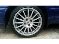Oz Superturismo 17 inch 4x100 alloy wheels with new tyres