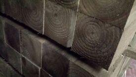 🌟 Pressure Treated Timber / Wood Posts 100 x 100mm x 2.4m