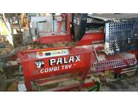Palax Combi firewood processor with loading deck