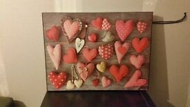 Shabby chic hearts picture