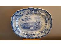 Victorian meat plate