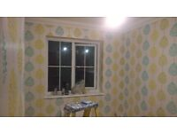 LUCAS . painter and decorator . wallpapered . free quote ..