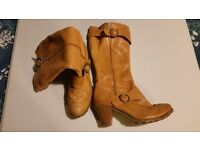 Hush Puppies Brown knee high boots size 7