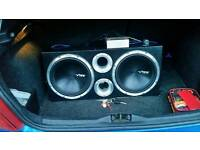 "Vibe black air ii 12"" twin subwoofer"