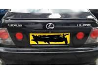 Lexus is200 black 202 boot tailgate + tte spoiler complete 98-05 breaking spares