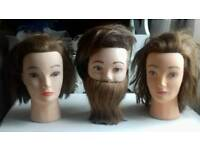 3 hairdressing trainer heads
