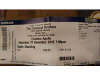 The Chemical Brothers @ Hammersmith. 10th Dec (tonight). £40