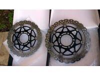 kawasaki front brake discs / pads