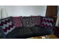 Excellent condition, sofa and swivel chair, collection only