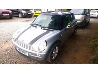 mini cooper 2002-51-plate, 1600cc, only 93,000 miles, some service history, new mot