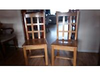 Two very solid chairs in excellent condition. Delivery can be arranged if required.