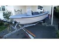 14ft boat With Johnson 55hp and trailer.
