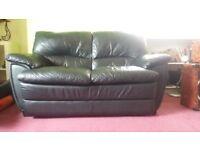 Leather Sofa (Black)