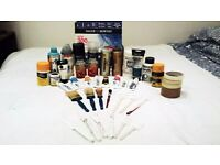 Art supplies - Paint, Gesso, Brushes, Palette knives, tape, 300gsm paper