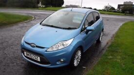 FORD FIESTA 1.6 TITANIUM TDCI,2010,Alloys,Air Con,Cruise Control,Privacy Glass,£20 Road Tax,F.S.H