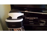 PS VR + PS CAMERA - 2 MONTHS OLD.