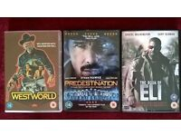 WestWorld, Predestination and Book of ELI DVDs - all 3 for £5
