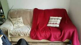 Free sofa! Cushions and x2 throws