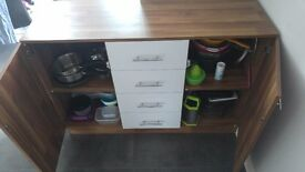 Kitchen storage (2 Cupboards & 4 Drawers) + Free Xmas Tree