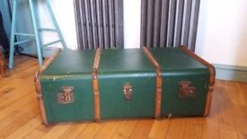 Large Vintage Suitcase - perfect for coffee table or dog bed project