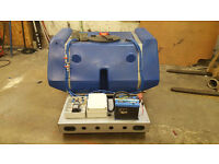 800 Ltr Tank on Skid mounted Frame 2 Pumps battery WFP Window Cleaning Pressure Wash Drain Jetting