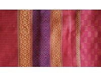 NEW Pure Silk Handmade Scarf Stole Wrap Shawl PROM / Wall Hanging Runner Gold Red Blue Furnishings