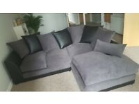 Lovely charcoal corner sofa. Great condition, from a pet and smoke free home. Buyer must collect.