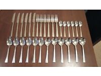 Viners 6 place setting spoons, fork,kinves
