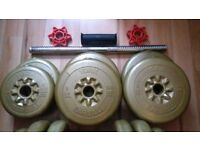 Great York Dumbbells, 12kg weight approximately,