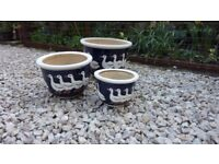 SET OF 3 PLANT POTS (Small Med & Large)