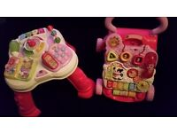 Baby push walker and activity table