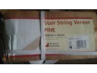 Stair String Veneer PINE effect 3600mm x 2500mm - Iron On