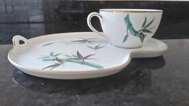 NORITAKE CHINA-CUP AND SANDWICH SAUCER EXCELLANT CONDITION