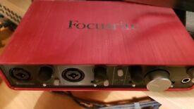 Focusrite Scarlett 2i4 1st generation Audio interface (Mint)