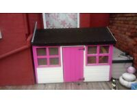 Girls Timber Wendy House - Painted Pink - 6ft x 4ft