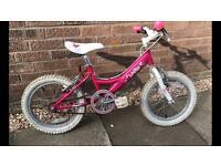 "Girls 14"" pink bike (age 4-6)"
