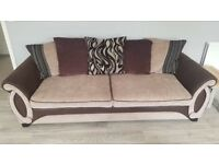 DFS Helix 4 seater sofa, chair and storage footstool.