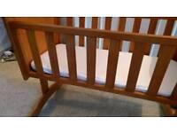 Baby swinging cot/crib, Winnie the Pooh, with mattress