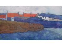 "Original Painting by Joe McAvoy ""Rooftops over Cellardyke"""