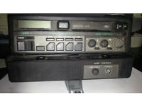 FORD RADIO CASSETTE PLAYER PLUS SERIES PLUS AMPLIFIER AND MOUNTING BRACKET