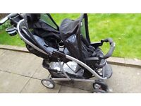 Excellent Condition Graco Quattro Tour Duo Tandem Twin Double Pushchair, Sport Luxe