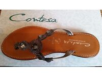SANDALS HANDMADE IN ITALY CONTESA SIZE 5 OR 38